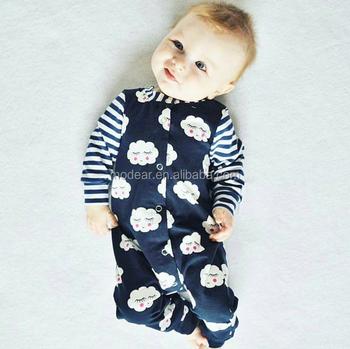 60d182c44ba2 Newborn Baby Boy Girl Warm Long Sleeve Bodysuit Romper Outfits ...