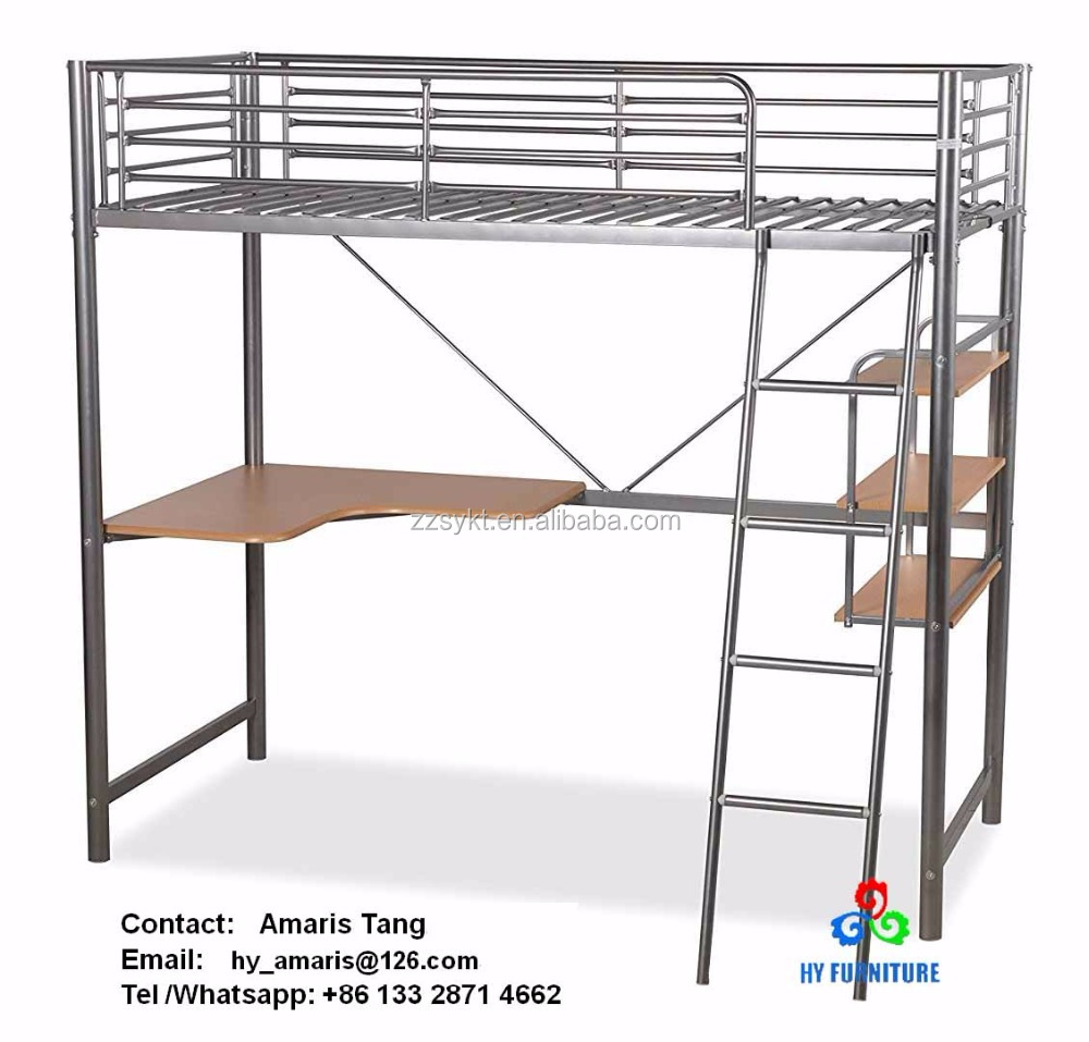 pi full bunk size attractive loft bed with metal desk s cute jpg beds