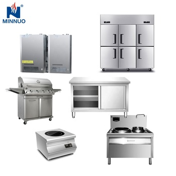 Minnuo Brand Western Stainless steel Commercial Hotel Restaurant Kitchen Equipment for sale