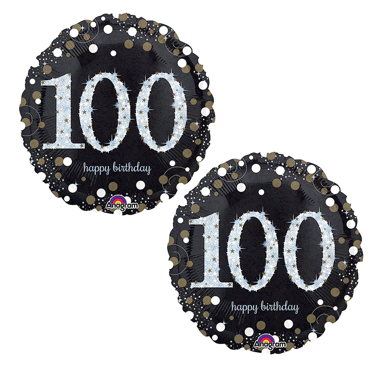 Happy 100th Birthday Party Foil 18 Balloons