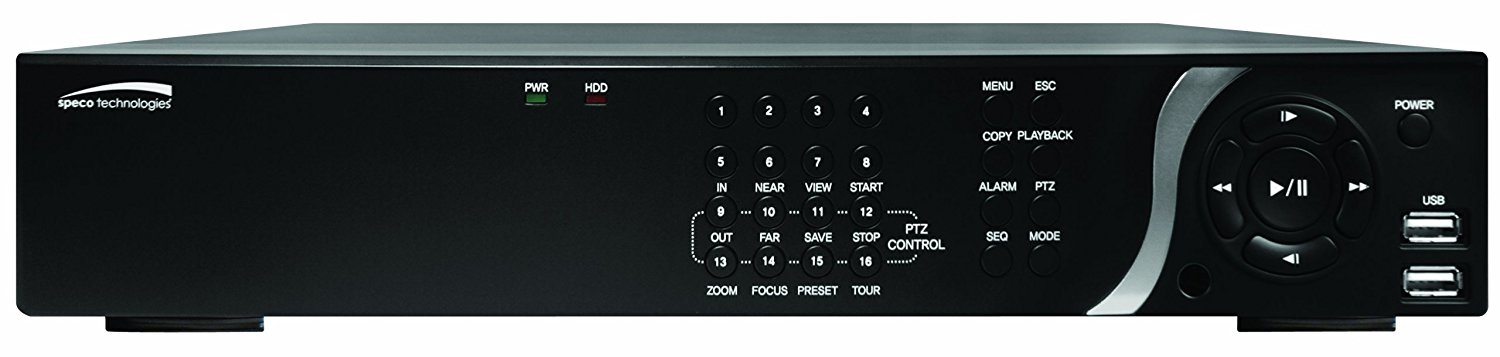 Speco Technologies N16NSP 16 Channel NVR with 8 Channel Built-In PoE and Digital Deterrent N16NSP4TB