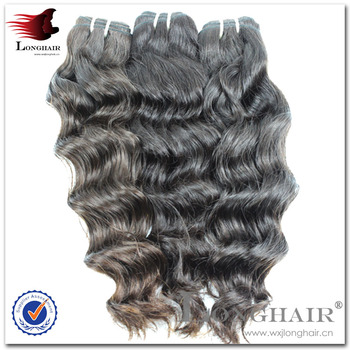 Finest Quality Black Color 1B Approx 100g hj top grade wavy wholesale virgin peruvian hair