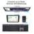 Ultra Slim Rechargeable Full Size US Layout  Bluetooth Keyboard Multi-Device Rechargeable Universal Wireless Keyboard