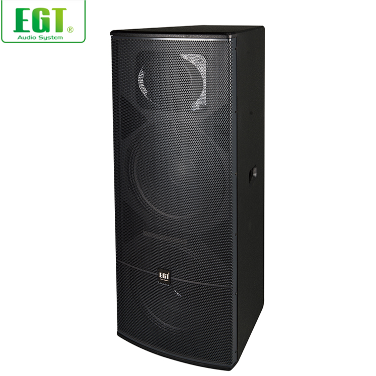 "Excellent quality audio loudspeaker 2 x 15"" outdoor or indoor full range passive speaker 600 watt speaker"
