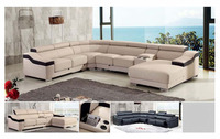 Bisini Ligith Grey U Shap Living Room Sofa Furniture
