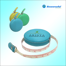 Round pu leather tape measure,retractable measuring tape