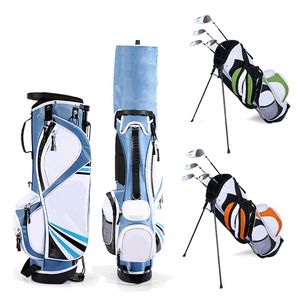 factory price Junior Stand Carry Bags custom made Lightweight Kids golf club bags Colorful Unisex junior golf stand bags