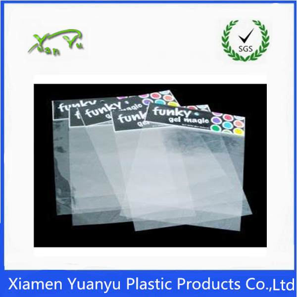 candy packing clear opp plastic bag with logo design header