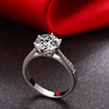 1 Carat GIA H SI1 3VG N 18K Solid White Gold Natural Diamond Ring Women