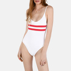 Yihao Swimsuits Young Girl Swim Wear One Piece Sexy Backless Sports Bikini Color Block Swimwear Women Sexy Bikini