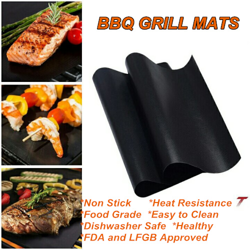 2 Pcs High Quality Easy to Clean Non Stick BBQ Grill Mat