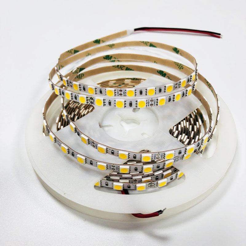 Hot sale flexible led strip light SMD 5050 12V 84 leds per meter white color 6mm PCB flex lights IP20