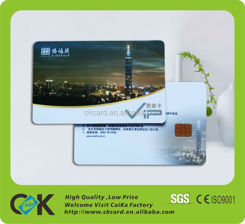ISO CR80 Size Contact ic Card with best printing and best source material