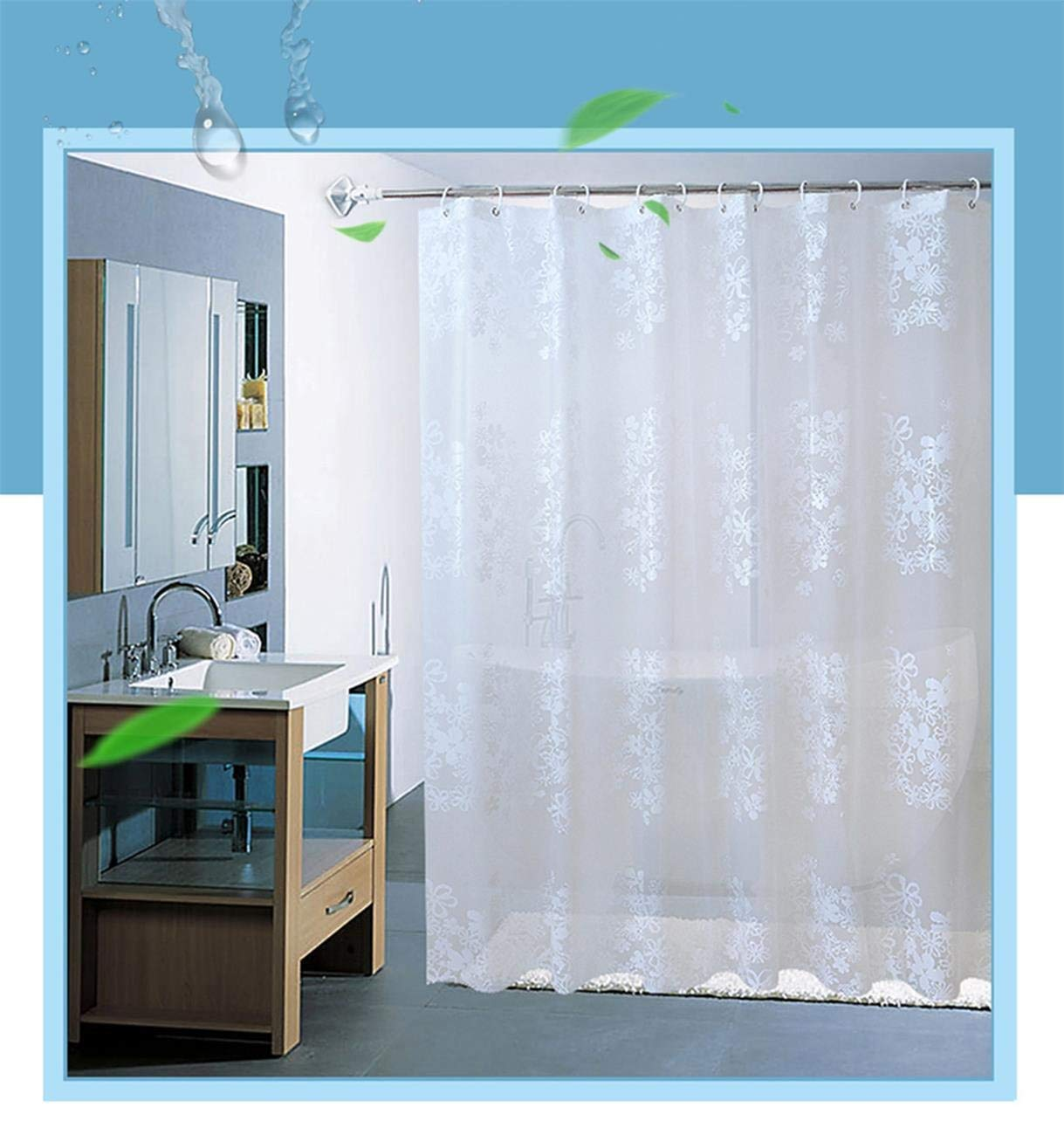 Get Quotations PEVA Shower Curtain Liner Mold And Mildew Resistant Anti Bacterial Heavy Duty LinerWaterproof