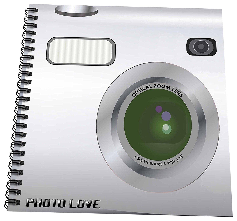 985166a374d7 Buy 3dRose db_57458_3 Silver Camera square design-unique novelty ...