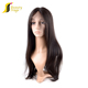Wholesale 100% brazilian virgin human hair half wig,cuticle aligned hair wigs for black men,18 inch virgin human hair wig
