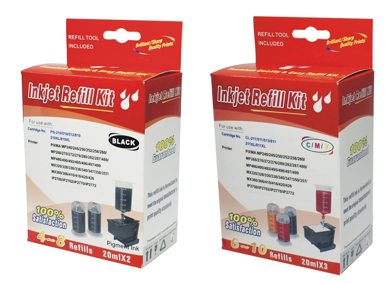 Cheap Refill Canon 210 Ink Cartridge Find Catridge 811 Colour Get Quotations Kit For Pg 510 810 Cl 211