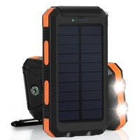 Best selling products 24000mah solar power bank with led light