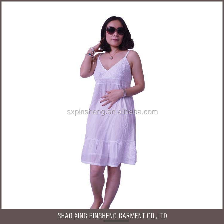 Factory directly provide White beach dress plus size