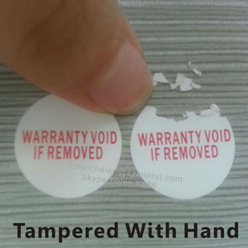 Custom Tamper Evident Non Removable Warranty Sticker