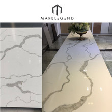 High quality Artificial Marble Slab white calacatta quartz stone for countertop