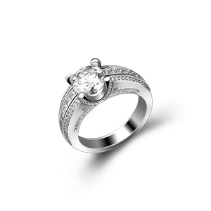 Latest Engagement Wedding Silver Ring Designs for Women