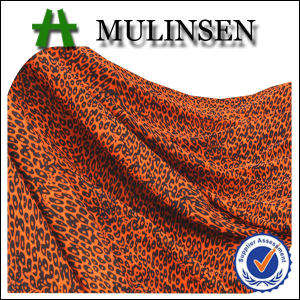 Mulinsen Textile Hot Sell Cheap FDY Knitting Polyester Spandex Animal Printed Leopard 4 Way Stretch Fabric for Women Wear