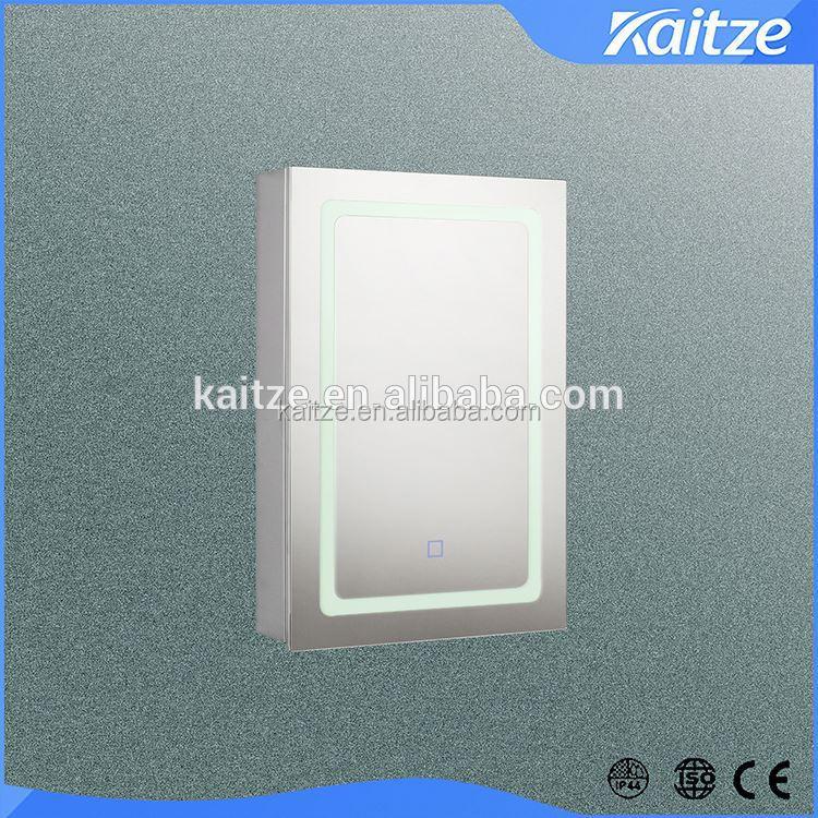 iluminado bao espejo armario con puertas de cierre suave de doble cara espejo