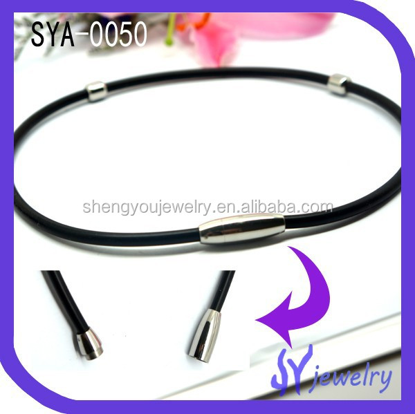 Fashion Magnetic Heal Care Silicon Jewelry, Leather Necklace Jewelry