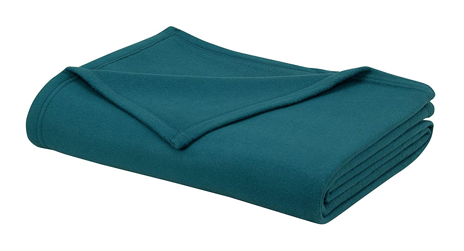 Cotton Craft -Soft Full/Queen Polar-Fleece Thermal Blanket Teal - 95 x 90 Inches - Extra Soft Brush Fabric, Super Warm Bed Blanket, Lightweight Couch Throw Blanket, Easy Care