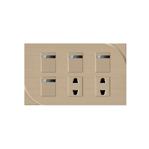 2018 unique design 4 gang 1 way smart light wall switches with 2 pin hole switch socket