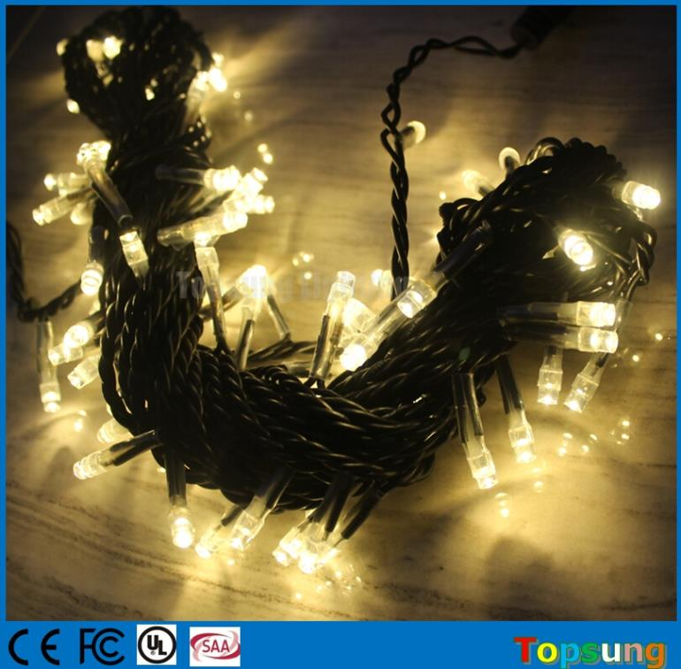 110v 100 led warm white luz navidad 10 m cortina waterproof ce rohs approval