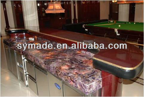 Natural gemstone semi precious stone amythest countertop