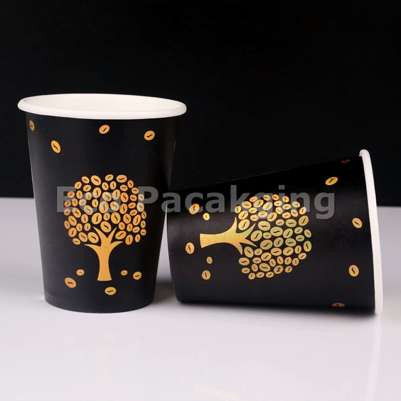 12oz biodegradable paper coffee cup with custom printing