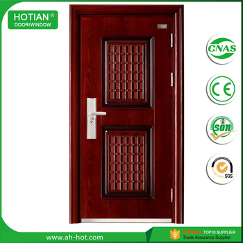 Soundproof Interior Steel Doors Frame Steel Security Door Detector