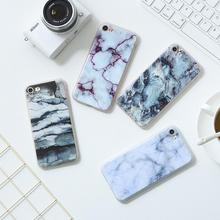 Color printing marbling stone grain strips fashion cell phone cover case for iPhone 6 7 plus