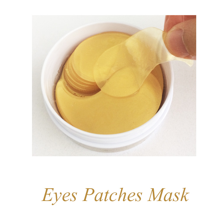 Private Label Gold Eye Gel Patches Collagen Crystal Eye Mask