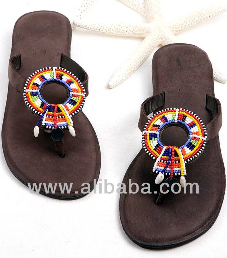 African Masai Sandals - Buy Ladies Beaded Sandals Product on ... 65b3e90ca