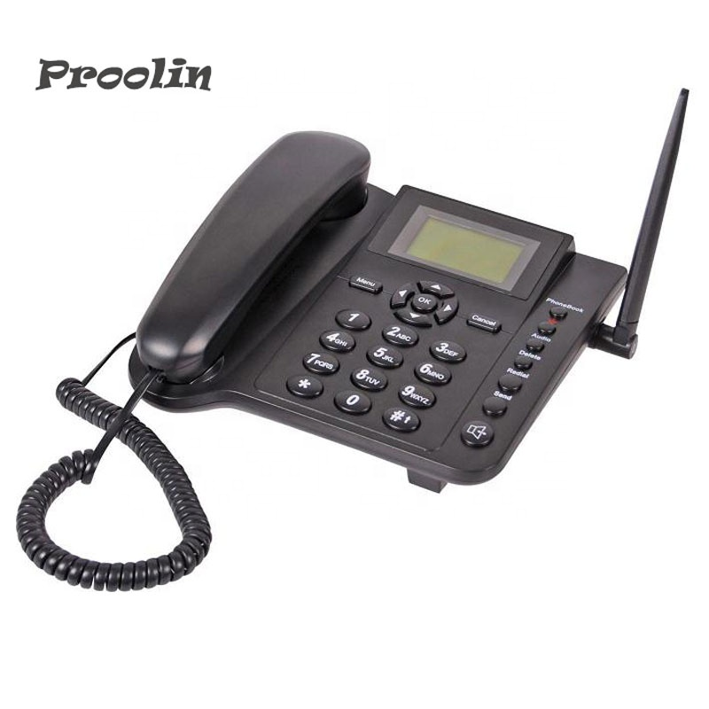 <strong>GSM</strong>/GPRS 900/1800MHz/850/1900MHz 4 Frequency fixed wireless desk phone ,best cheap china factory supply