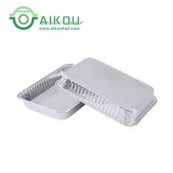 Eco-friendly disposable silver foil box for fast food packaging