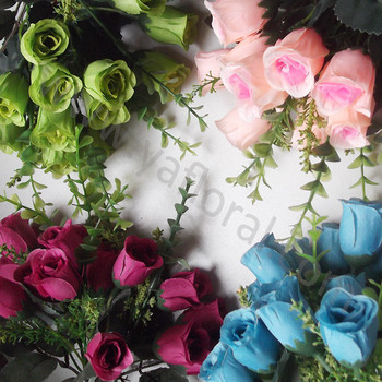 Artificial Flower Rose Bud Wholesale Silk Flower Rose Buds Small