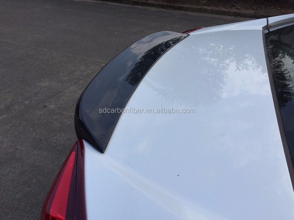 Real carbon fiber SD style Rear spoiler wing for Honda Civic 10 perfect fitment carbon black