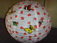 Home decoration paper lantern with butterfly