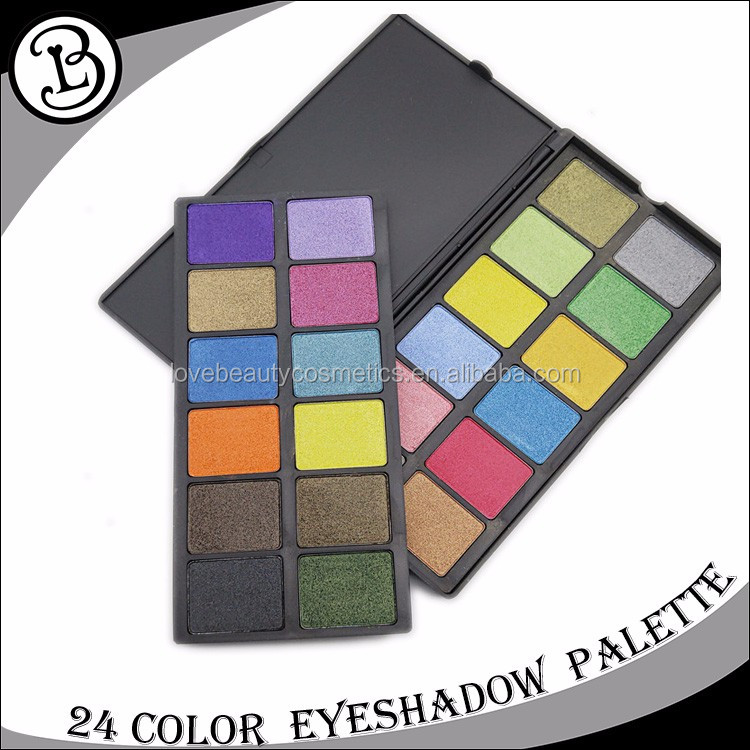 2017 Best professional hot sale 24 color eyeshadow palette private label
