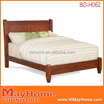 2015 Lastest Design Big Bedhead Wooden Double Bed Designs