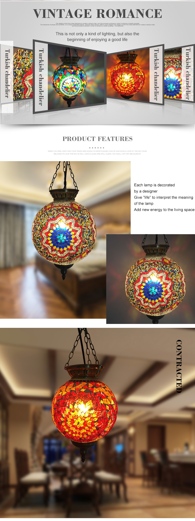 SINOVO china factory supplied Creative led hanging ceiling lamp shade globe