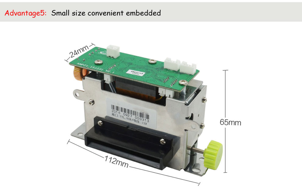 2inch thermal receipt pos integrated printer with auto cutter support big roll paper for KIOSK