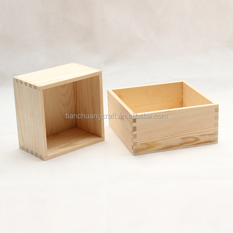 Small Wooden Storage Box Without Lids Square Buy Pine Wood Blanket
