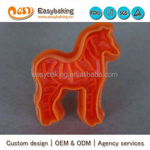 Wholesale Custom Made Plastic Cookie Tool Zebra Stamp Cutter