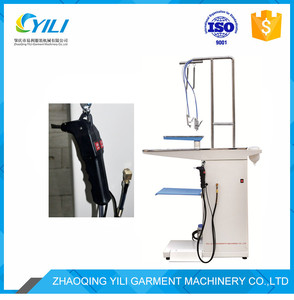 laundry spotting with spray steam gun cleaning table equipment